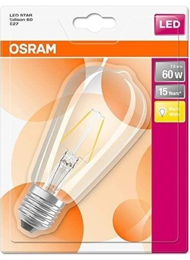 Osram Led Star Edison 7W Sarı Işık Renksiz
